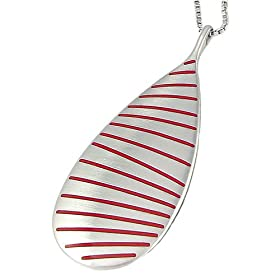 Amazon.com: Wave Necklace, available in 4 colors. Featured here from left - right: red, clear, white and black.: Apparel from amazon.com