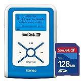 SanDisk Dオーディオプレーヤー 512MB ブルー SDカード128MB付 SDMX2-512B-J65A-S