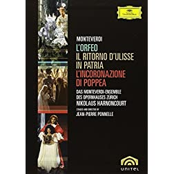 Monteverdi - L'Orfeo, L'Incoronazione di Poppea, Il Ritorno d'Ulisse in Patria (Boxset)
