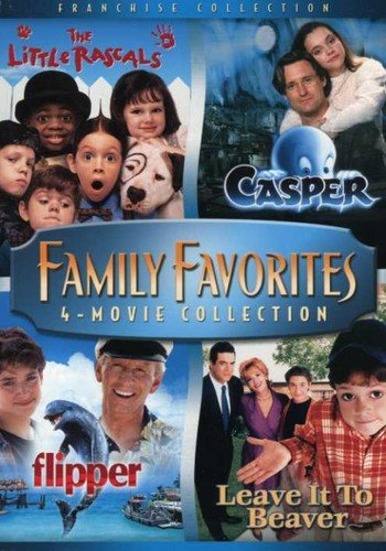 Family Favorites 4 Movie Collection (The Little Rascals / Casper / Flipper / Leave it to Beaver)