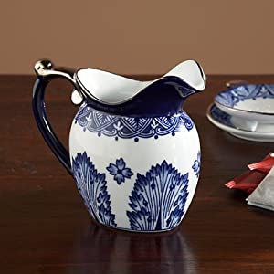The Bombay Company Store: Grace Blue and White Creamer