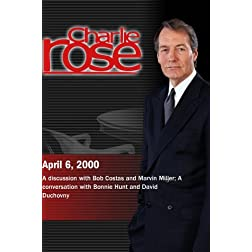 Charlie Rose with Bob Costas; Marvin Miller; Bonnie Hunt; David Duchovny (April 6, 2000)