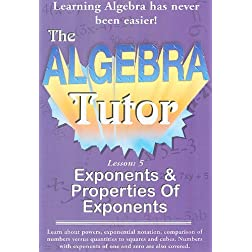 Algebra Tutor-Exponents Vol 5