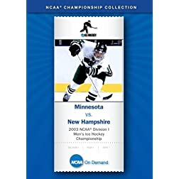 2003 NCAA(R) Division I Men's Ice Hockey Championship