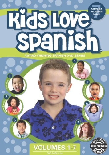 Kids Love Spanish: Volumes 1-7 DVD Box Set