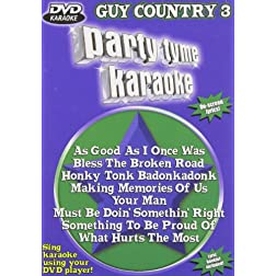 Party Tyme Karaoke: Guy Country, Vol. 3