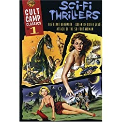 Cult Camp Classics 1 - Sci-Fi Thrillers (Attack of the 50 Ft. Woman 1958 / Giant Behemoth / Queen of Outer Space)