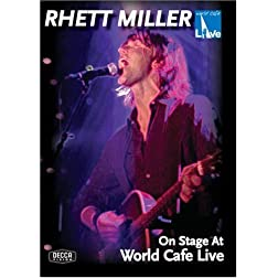 Rhett Miller: On Stage at World Cafe Live
