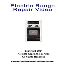 Electric range repair DVD; Electric range repair for  Whirlpool, Kenmore, Sears, Roper, Kitchen Aid