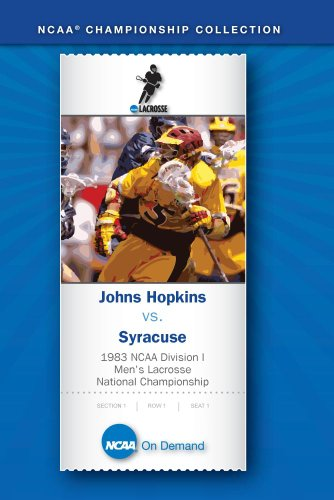 1983 NCAA Division I Men's Lacrosse National Championship - Johns Hopkins vs. Syracuse