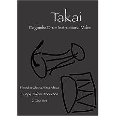 Takai: West African Drum Instructional Video (2 DVD disc set)