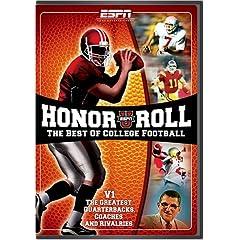 ESPN: ESPNU Honor Roll - The Best of College Football, Vol. 1