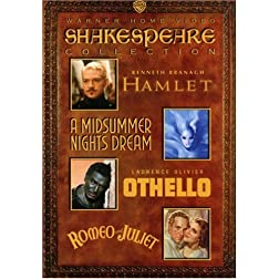 Shakespeare Collection (Hamlet 1996 / A Midsummer Night's Dream 1935 / Othello 1965 / Romeo & Juliet 1936)