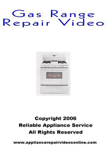 Gas Range Repair Video Gas Range Repair DVD