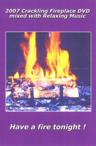2007 Crackling Fireplace DVD with Relaxing Guitar Music