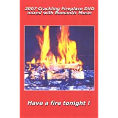 2007 Crackling Fireplace DVD mixed with Romantic Guitar Music