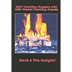 2007 Crackling Fireplace DVD with Natural Crackling Sounds