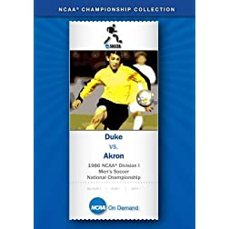 1986 NCAA(R) Division I Men's Soccer National Championship - Duke vs. Akron