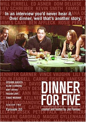 Dinner For Five, Episode 20: Faizon Love, Alan Cumming, Isaac Mizrahi, Amy Irving