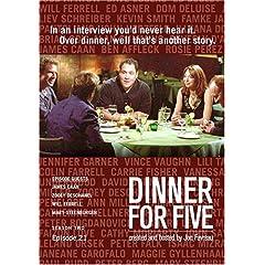 Dinner For Five, Episode 21: James Caan, Will Ferrell, Zooey Deschanel, Mary Steenburgen