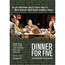 Dinner For Five, Episode 26: Laura Kightlinger, Hector Elizondo, Jeffrey Ross, Kevin Pollak