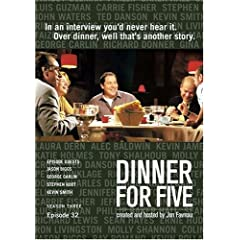 Dinner For Five, Episode 32: George Carlin, Kevin Smith, Stephen Root, Jason Biggs