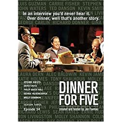 Dinner For Five, Episode 34: Molly Shannon, George Hickenlooper, David Cross, Phillip Baker Hall