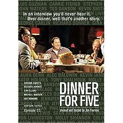 Dinner For Five, Episode 35: Ron Eldard, Ray Romano, Michael Madsen, Richard Donner