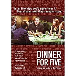 Dinner For Five, Episode 15: David Byrne, Janeane Garofalo, Dave Eggers, Joe Pantoliano