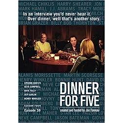 Dinner For Five, Episode 38: Jeff Garlin, Neve Campbell, Henry Winkler, Dave Foley