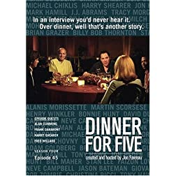 Dinner For Five, Episode 45: Frank Darabont, Alan Cumming, Harry Shearer, Fred Willard