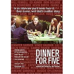 Dinner For Five, Episode 13: Peter Bogdanovich, Larry Miller, Liev Schreiber, Penelope Ann Miller