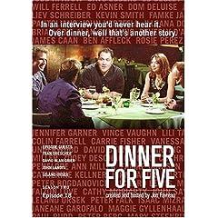 Dinner For Five, Episode 18: Fran Drescher, John Landis, David Alan Grier, Leland Orsek