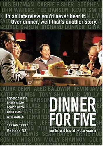 Dinner For Five, Episode 33: Colin Quinn, Danny Aiello, John Waters, Delroy Lindo
