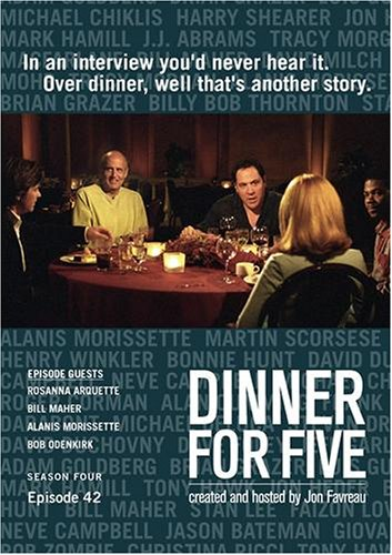 Dinner For Five, Episode 42: Alanis Morissette, Bob Odenkirk, Bill Maher, Rossanna Arquette