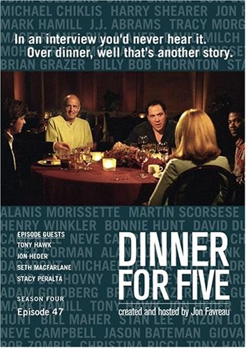 Dinner For Five, Episode 47: Stacy Peralta, Seth MacFarlane, Jon Heder, Tony Hawk
