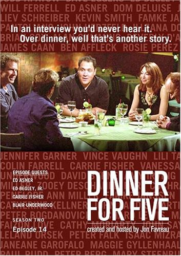 Dinner For Five, Episode 14: Carrie Fisher, Ed Begley, Jr., Blair Underwood, Ed Asner