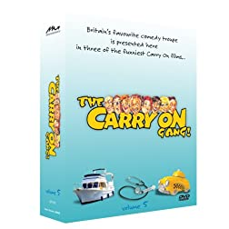 The Carry On Gang Gift Set Volume 5 - 3 DVD Set (Carry On Abroad -Carry On Again Doctor - Carry On Cabby)