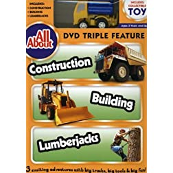 All About Construction, Building And Lumberjacks With Vehicle