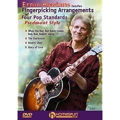 Ernie Hawkins Teaches Fingerpicking Arrangements of Four Pop Standards-Piedmont Style