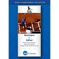 2007 NCAA Division I Women's Softball College World Series Game #1 - Washington vs. DePaul