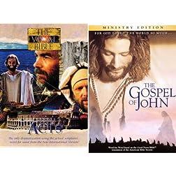 Visual Bible: Acts & John 4-Disc Set