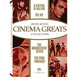 United Artists Cinema Greats Collection, Set 1 (The Pink Panther / A Fistful of Dollars / Dr. No / The Magnificent Seven)
