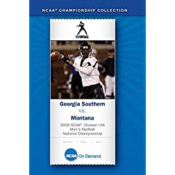 2000 NCAA Division I-AA Men's Football National Championship - Georgia Southern vs. Montana