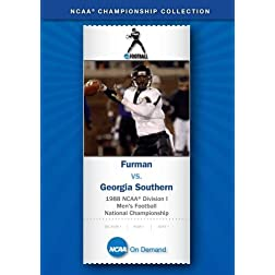 1988 NCAA Division I Men's Football National Championship - Furman vs. Georgia Southern