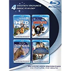 Blu-ray 4-Pack: Disney Movies (The Wild / Chicken Little / Dinosaur / Bridge to Terabithia) [Blu-ray]
