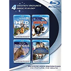 Blu-ray 4-Pack: Disney Movies (The Wild / Chicken Little / Dinosaur / Bridge to Terabithia) [Blu-ray]