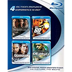 Blu-ray 4-Pack: Action Movies (Pearl Harbor / Gone in 60 Seconds / The Guardian / Deja Vu) [Blu-ray]