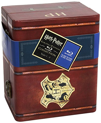 Harry Potter Years 1-5 Limited Edition Gift Set (Sorcerers Stone/ Chamber of Secrets/ Prisoner of Azkaban/ Goblet of Fire/ Order of the Phoenix) [Blu-ray]