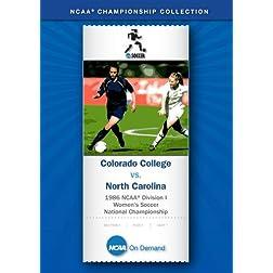 1986 NCAA Division I Women's Soccer National Championship - Colorado College vs. North Carolina